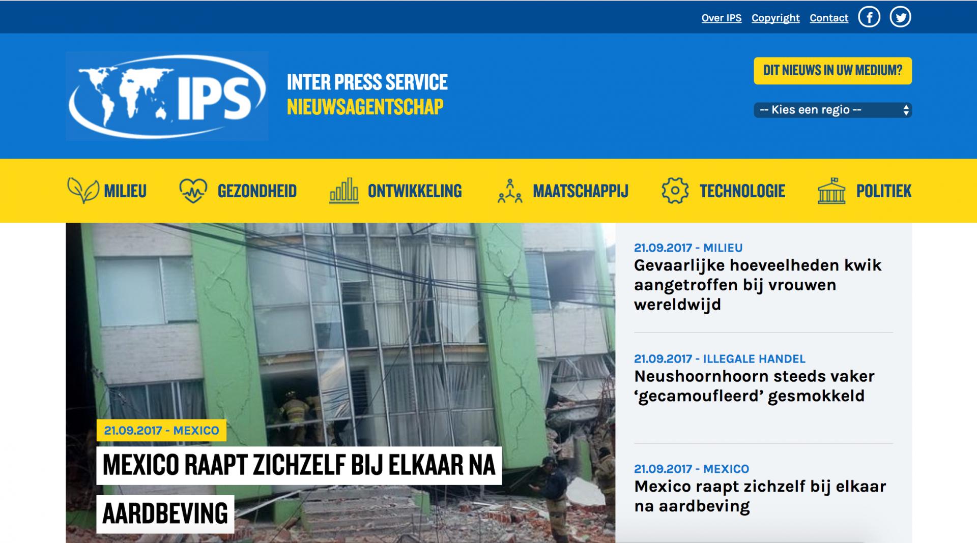 website Inter Press Service / IPS News